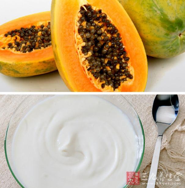 自制木瓜酸奶面膜