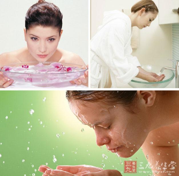护肤洗脸高清图片素材
