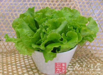 生菜--补充蛋白质减肥中丢失的纤维素