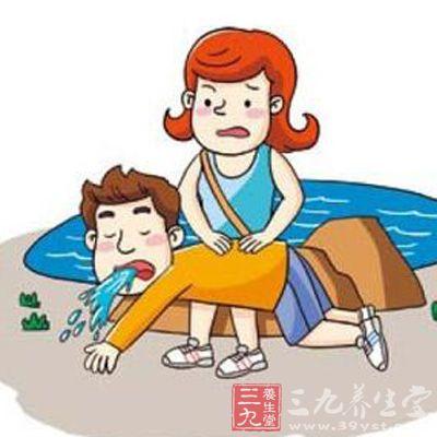 ①急救者一腿跪在地 另一腿屈膝