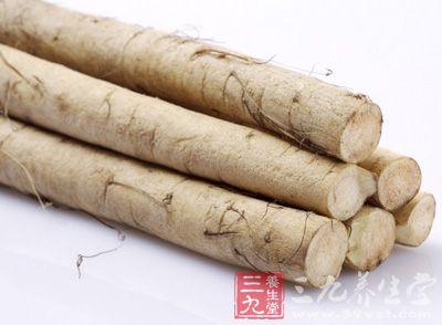 为薯蓣科植物薯蓣的块茎