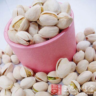 吃20~30克(不算壳的重量,大约30~50粒)开心果含有2~3克膳食纤维.