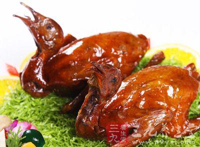 鸽子又名白凤,肉味鲜美,营养丰富