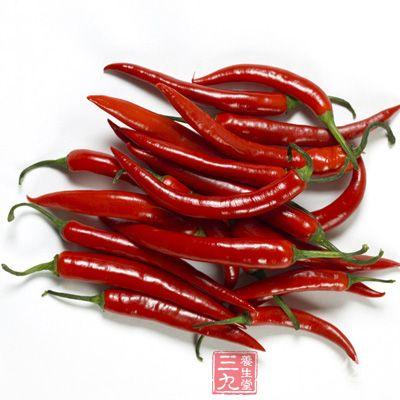 辣椒中含有丰富辣椒素。能促进脂质代谢,并可溶解脂肪,抑制脂肪在休内蓄积
