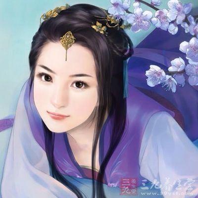 手绘古代宫廷公主