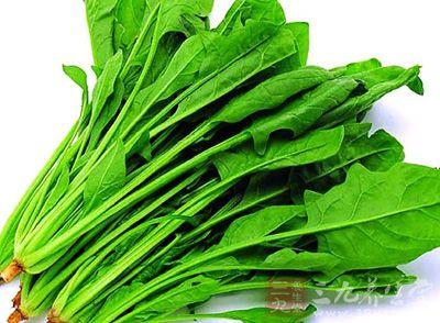 菠菜富含膳食纤维,能增加胃肠蠕动