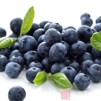 蓝莓中含有一种特殊色素Anthocyanosides,这是一种天然的抗氧化剂