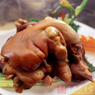 卤猪蹄味道美味