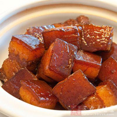 美味的红烧肉