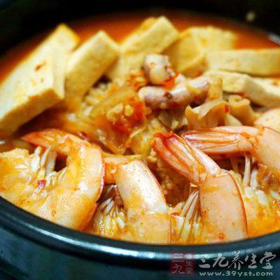 韩式海鲜锅图片