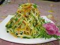 黄瓜丝拌金针菇