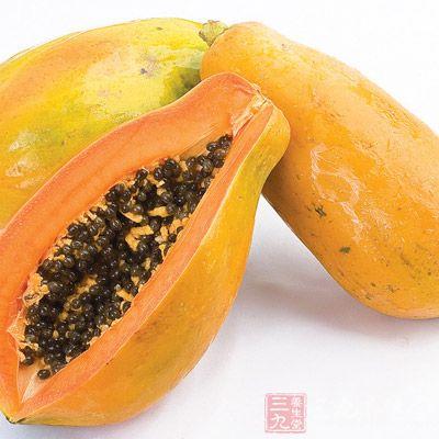 木瓜肉所含的果胶更是优良的洗肠剂,可减少废物在下身积聚