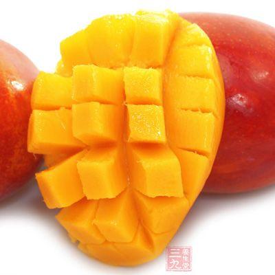 闭经:芒果1个,生食