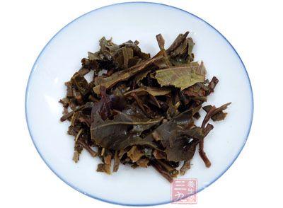 药材基源:为山茶科植物普洱茶的嫩叶