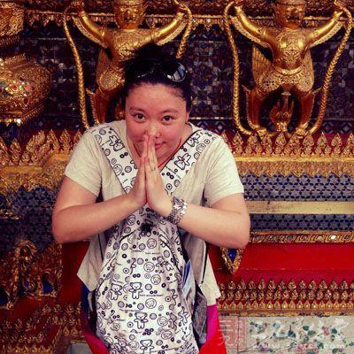 泰国双手合十 手绘
