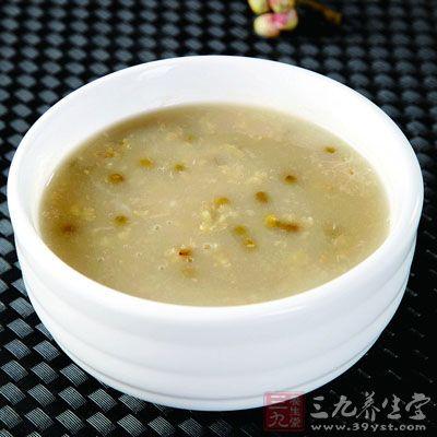 绿豆粥 常法煮绿豆粥即可。注意,脾胃虚寒腹泻者不宜食用