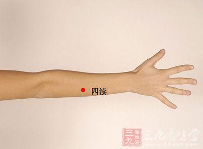 该穴位于人体的前臂背侧