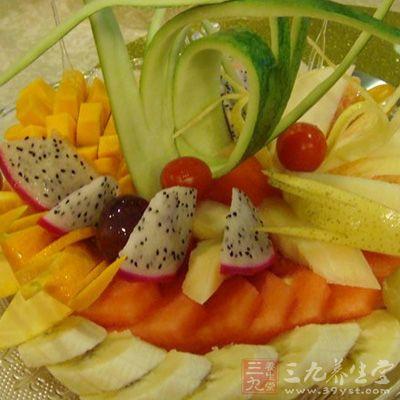 缤纷水果盘的制作方法
