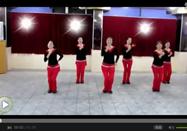 广场舞歌曲 红歌风广场舞绣红旗视频