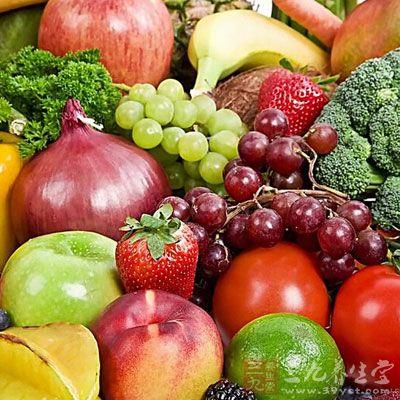 多吃新鲜蔬菜和水果
