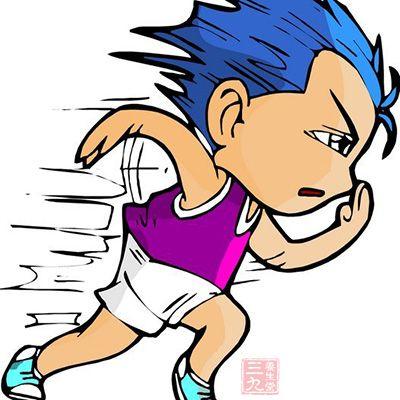跑步的手绘漫画