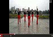 广场舞教学 红歌风广场舞中国红教学