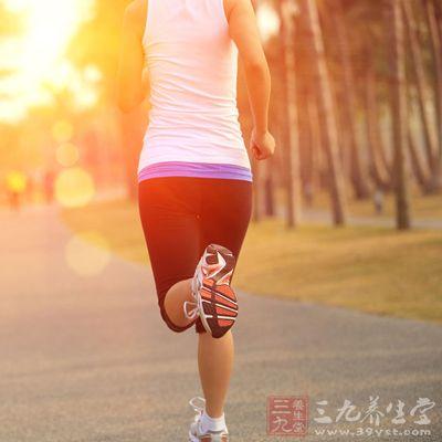 跑步气喘扁平素材