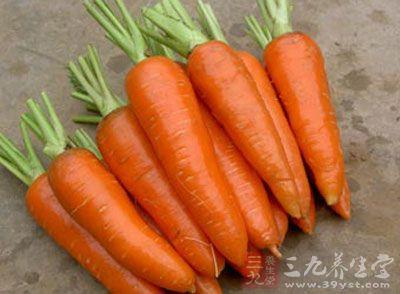 胡萝卜含有的大量果胶可以与汞结合