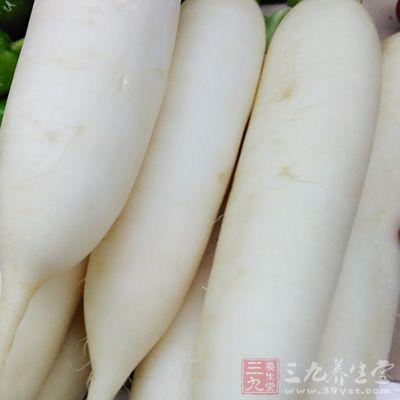 白萝卜有消积滞的功效,主治食积胀满
