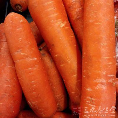 胡萝卜、西红柿以及各种蔬菜中所包含的红、黄、橙等各种色素