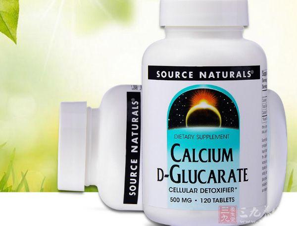 美国Source Naturals D-葡糖二酸钙片