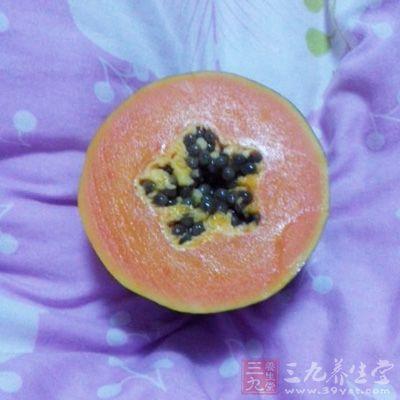 木瓜所含酵素近似人体生长激素,多吃可令人保持青春