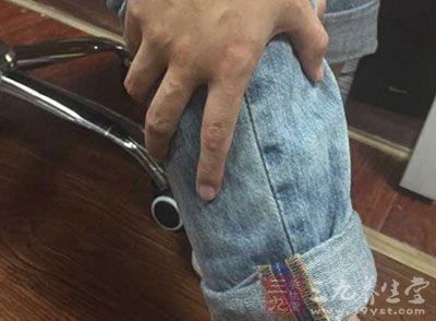 足三里穴位于膝盖外部下侧