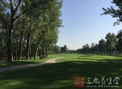 其实打高尔夫球是在大自然中的一种户外康体活动