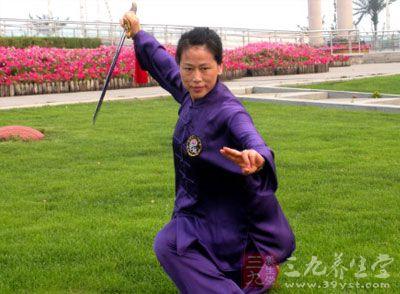 中国武术中有一个特有的表现形式
