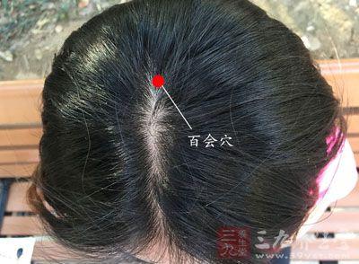 头顶正中线与两耳间联线的交点处,大致在头顶正中央处
