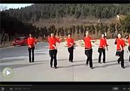 叶子广场舞又见山里红正反面教学视频