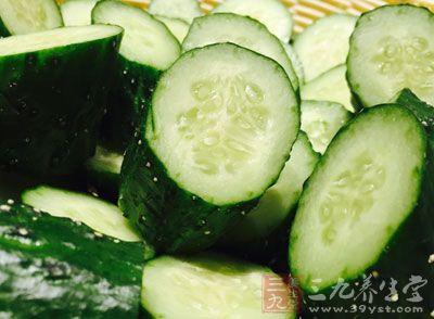 黄瓜有清热解毒的功效