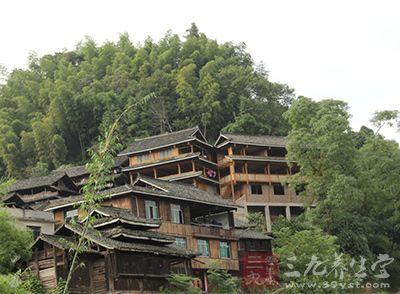 一幢幢古色古香、富有浓郁土家族风韵的吊脚楼