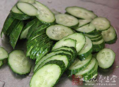 黄瓜中的维生素E有抗衰老作用