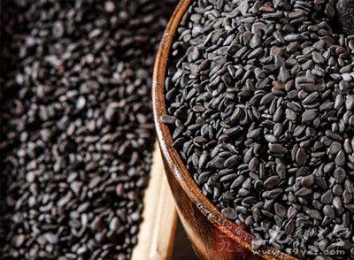 乌黑的高营养黑芝麻