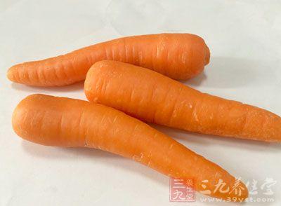 胡萝卜富含β-胡萝卜素,不仅能够保护基因结构,预防癌症