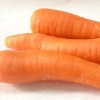 胡萝卜中有丰富的胡萝卜素