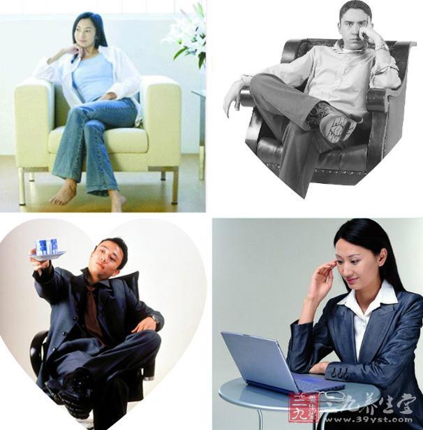 舒适的坐姿角度   至今,围绕最佳坐姿的研究仍寥寥可数。美国的一项于1999年进行的整合分析研究指出,身体躯干和大腿呈100度至130度角的坐姿最能令脊柱放松。   苏格兰的一项于2007年发表了论文的研究发现,角度为135度的后仰坐姿对防止背部酸痛最为有利。戈卢比奇博士表示,虽然这些研究令人颇感兴趣,但对于大多数人来讲,如此精确地拿捏坐姿角度或许并不可行。   久坐伤身   克里夫兰诊所治疗过患有多种慢性疾病的病人。几乎所有这类患者都是每天久坐不动。2002年,美国总统健康及运动委员会为应对久坐的生