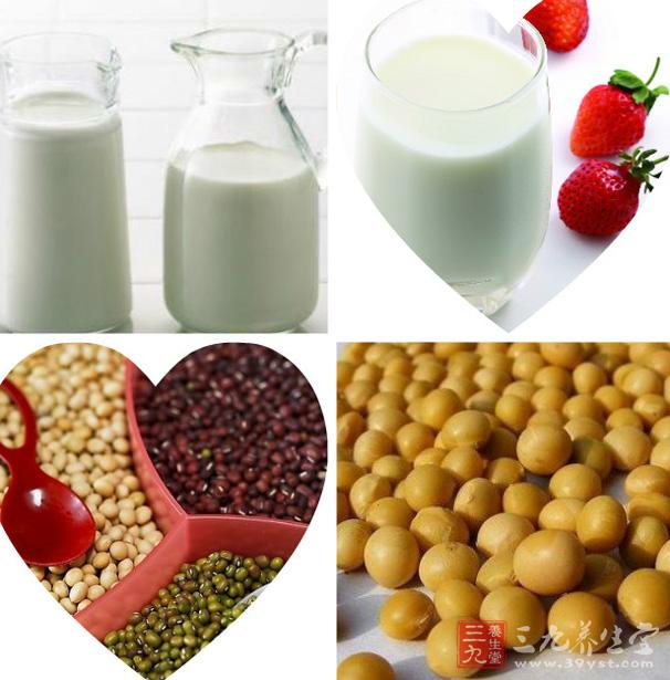 每天吃奶类,豆类及其制品,豆类首推黄豆