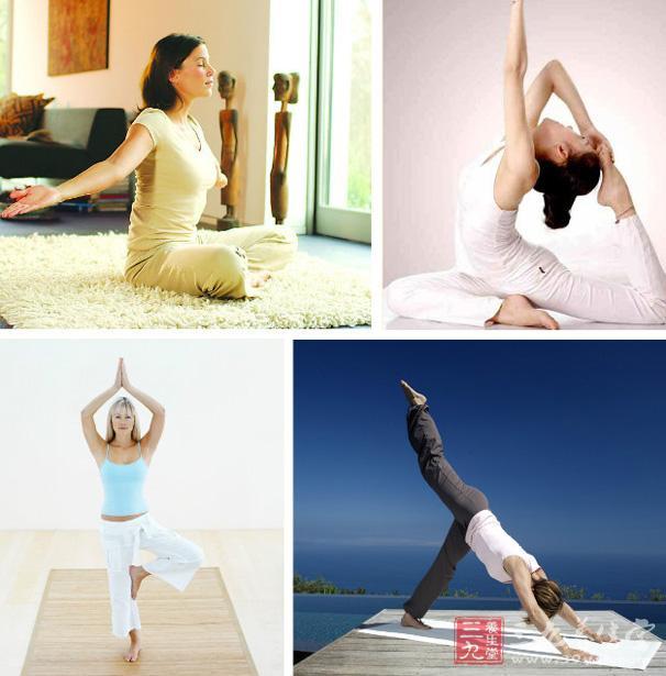 瘦身健身的瑜伽动作教学