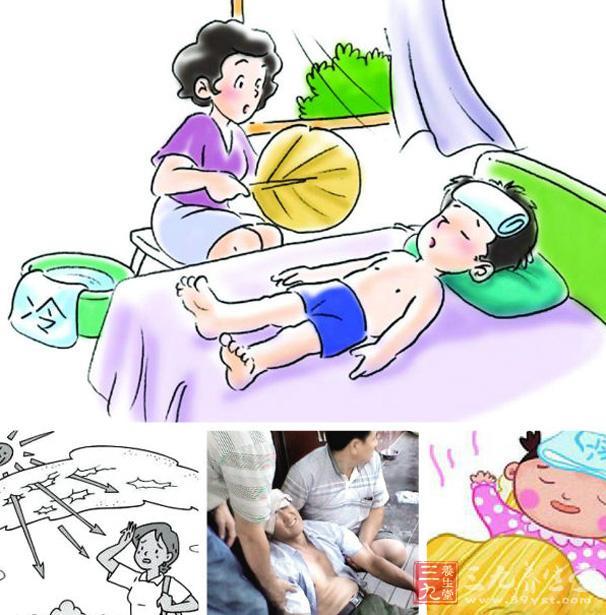 9特殊人群防暑降温 夏天高温季节,对于老年人、孕妇、有慢(xing)疾病的人,特别是有心血管疾病的高危人群,在高温季节要不仅要尽可能地减少外出而且要给予特别关注,在室内必须控制合适的室温,服用防暑饮品,及时观察是否出现中暑征兆。 中暑的症状是什么 1.先兆中暑 人在高温环境下,经过一段时间后,会出现疲乏、头昏、眼花、乏力、恶心、动作迟缓、胸闷、心悸、大汗、口渴、注意力不集中,即为先兆中暑。此时,体温正常或略高。若离开高温环境,休息数小时使可恢复。 2.