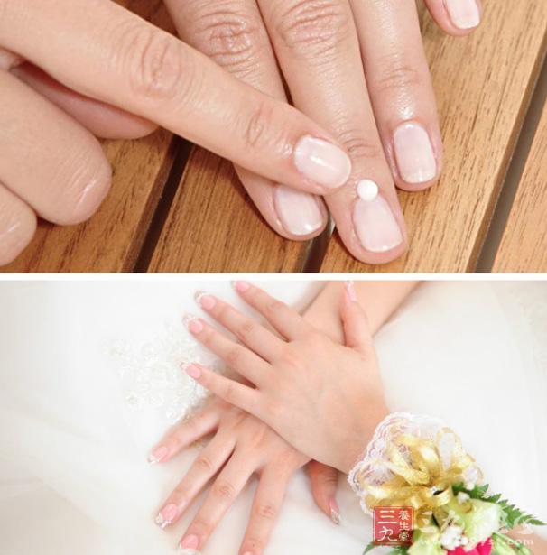 手指甲上没有月牙