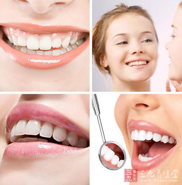 甜美的笑容离不开漂亮的脸庞的衬托,拥有洁白的牙齿也和重要.