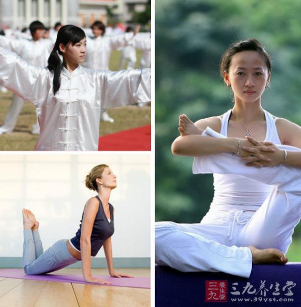 运动也是调养必不可少的一个环节。平时可练习瑜伽、太极拳、保健气功等舒缓运动